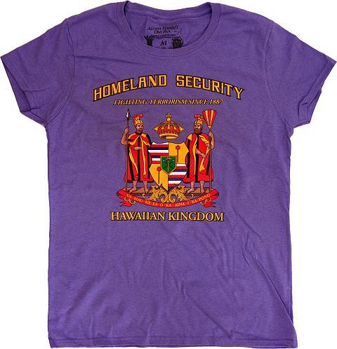Hawaiian kingdom t shirt violet hawaiian kingdom for Hawaiian graphic t shirts